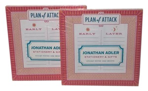 Jonathan Adler Stationary & Gifts - 2 PADS OF CHIC STICKY NOTES 200 Sheets New