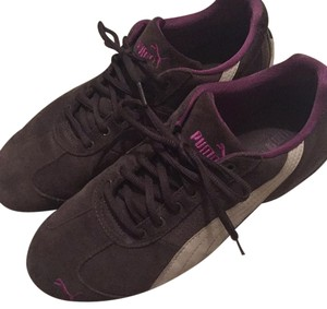 Puma Dark grey with magenta and white Athletic