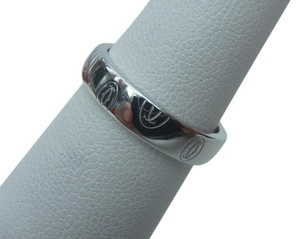 Cartier Authentic Cartier Happy Birthday Wedding Band Ring in 18K White Gold US5.5 EU51 with Certificate