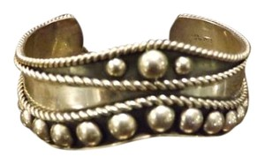 Mexico Sterling Wonderful Signed I.W. Mexico .925 Bracelet,Raised Ball Design with 3D Details,Amazing!