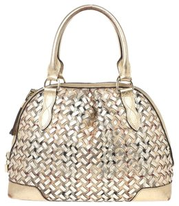 Burberry Satchel in Metallic weave
