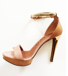 Lanvin Nude Suede and Leather Sandals