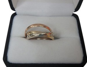 Cartier Authentic Cartier 18k Tri Color Gold Trinity Ring-size 9.5 EU61