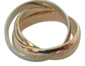 Cartier Cartier 18k Tri Color Gold Le Must De Cartier Trinity Ring-size 5, EU50