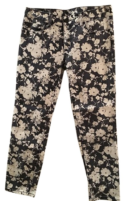 Item - White/Navy Alexis Crop Skinny Jeans Size 27 (4, S)