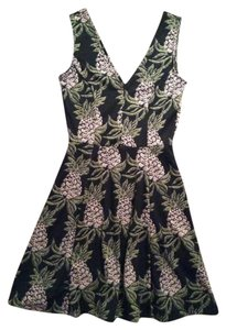 H&M short dress Black with pineapple design on Tradesy