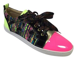 Christian Louboutin Gondoliere Trainer Black/Neon Flats