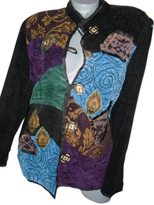 Indigo Moon patchwork blues Blazer