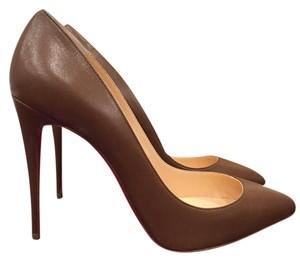 Christian Louboutin Pigalle Follies Stiletto Brown Pumps