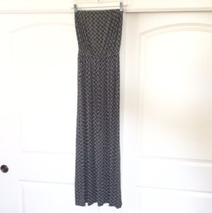 Black, white and gray Maxi Dress by Old Navy