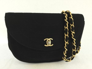Chanel Fabric Evening Shoulder Bag