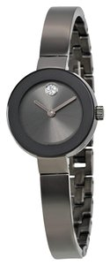 Movado MOVADO Bold Crystal Marker Gunmetal Plated Bangle Ladies Watch