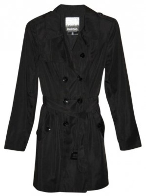 Preload https://item1.tradesy.com/images/kensie-black-double-breasted-trench-coat-size-4-s-174835-0-0.jpg?width=400&height=650