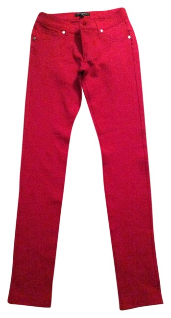 Item - Red Coated Skinny Jeans Size 25 (2, XS)