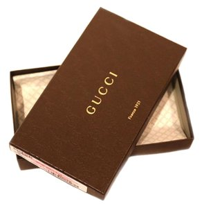 Gucci Gucci metallic wallet box with Gucci tissue paper