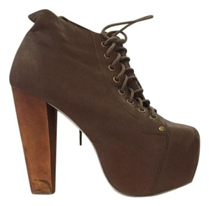 Jeffrey Campbell Lita Platform Brown Boots