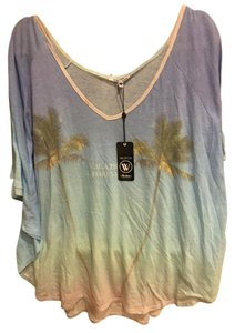 Wildfox Wildfox Vacation Forever Coverup Big Tee NWT $95 Womens Small Palm Trees Beach Scene