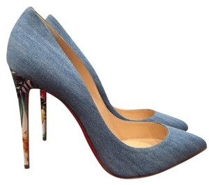 Christian Louboutin Pigalle Follies Stiletto blue Pumps