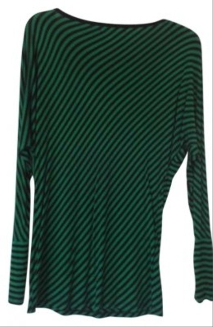 MICHAEL Michael Kors Stripes T Shirt Kelly Green/ Black