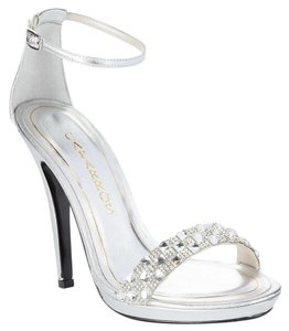 Caparros Embellished Evening Silver Formal