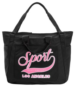 Juicy Couture Gym Tote Nylon Black & Pink Travel Bag