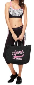 Juicy Couture Gym Nylon Travel New With Tags Tote in Black & Pink