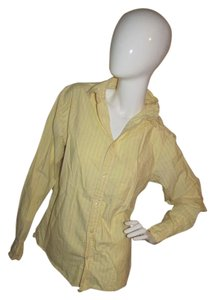 Old Navy Button Down Blouse Button Down Shirt Yellow