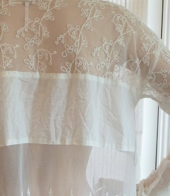 Free People Lace Sheer Vintage Romantic Bohemian Top