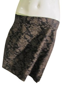 Wildlife New York Floral Skirt Black/Tan Print