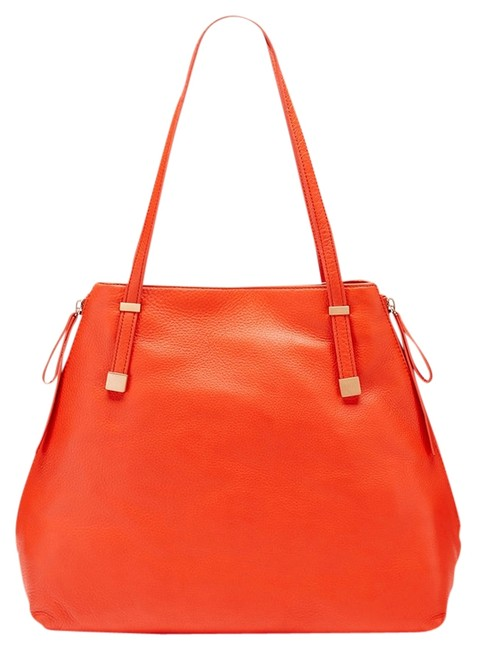 Item - Bag Edie Red Orange Leather Tote
