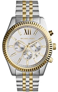 Michael Kors Men's Chronograph Lexington Two-Tone Stainless Steel Watch 45mm MK8344