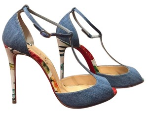 Christian Louboutin Senora Denim Stiletto blue Pumps