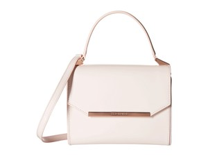 Ted Baker Leather Pink Rose Gold Hardware New With Tags Avaa Satchel in Baby Pink