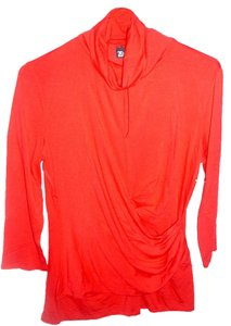 New York & Company Cherry Fitted Top red
