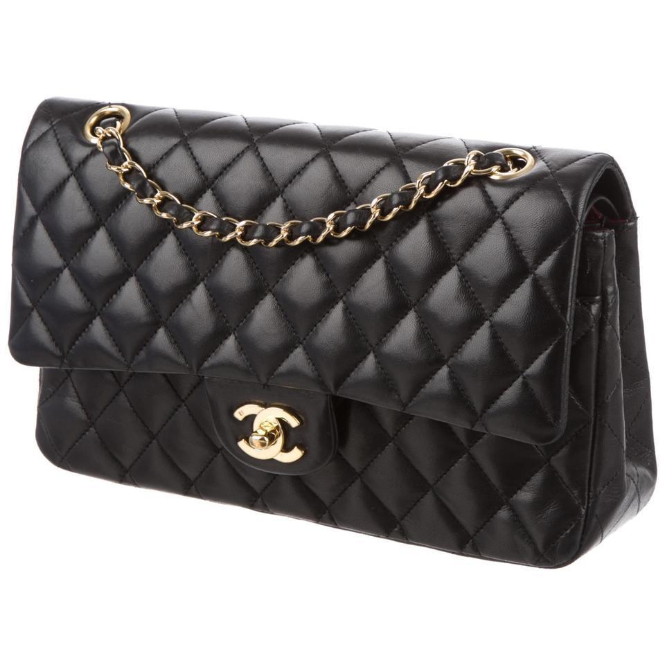 chanel black lambskin medium classic double flap bag sema data co op