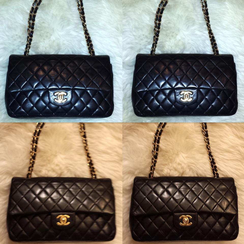 276e73c384e3 Chanel Quilted Medium Double Classic Flap Lambskin Leather Shoulder Bag  Image 11. 123456789101112