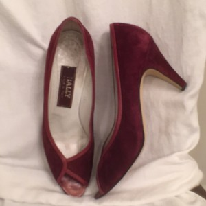 Bally Suede Leather Red Pumps