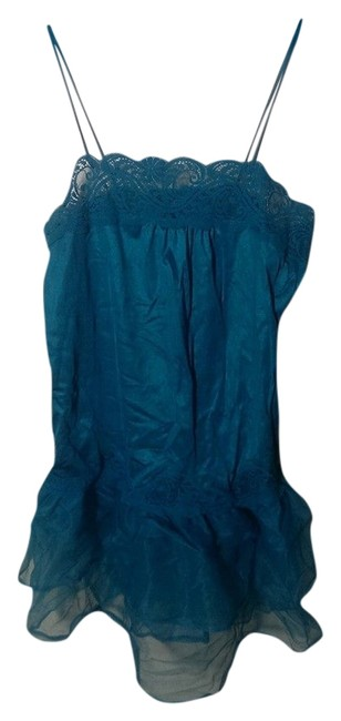 unknown short dress turquoise Slip Lace Tool Pretty Flowy on Tradesy