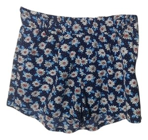 Be Bop Cute Flowers Dress Shorts blue with floral pattern