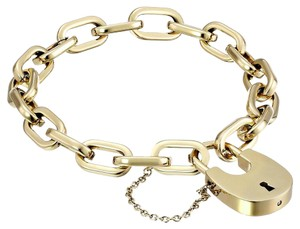 Michael Kors Ladies New Gold-Tone Padlock Bracelet