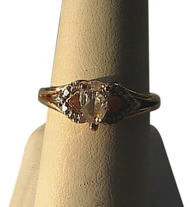 Vintage Sterling .925 Vermeil CZ Ring