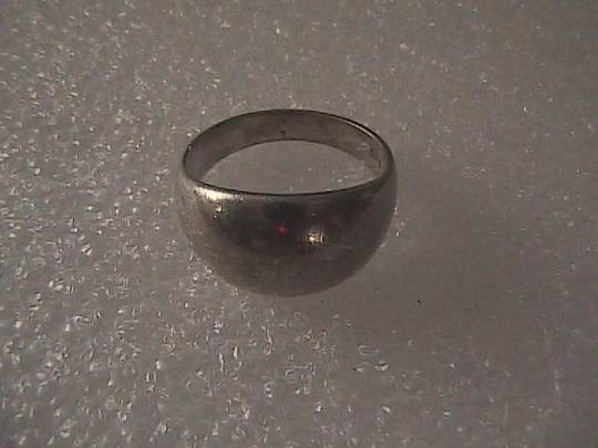 Vintage Sterling Silver Smooth Dome Ring