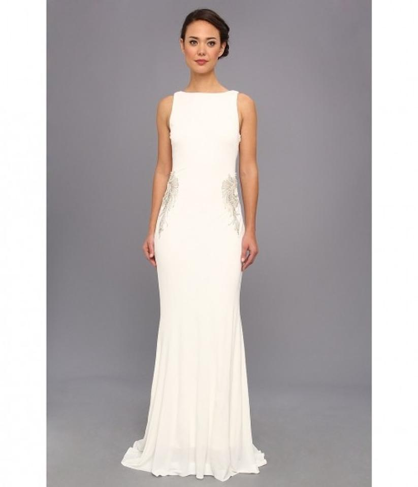 Badgley Mischka Wedding Gown: Badgley Mischka Winter White Backless Drape Gown Wedding