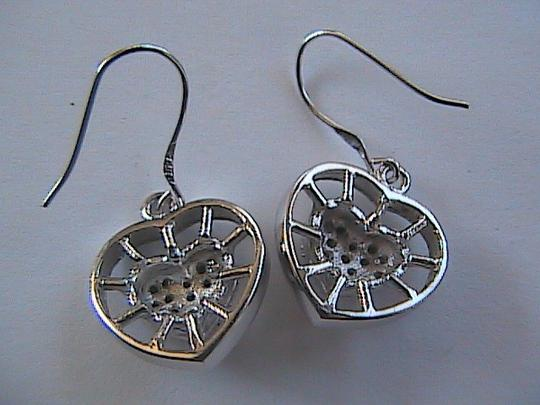 Unknown Sterling Silver Round Smokey Topaz Dangling Earrings