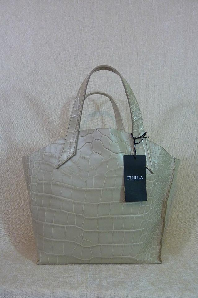 Jucca Leather Croc Small Furla Embossed Beige Tote Marble SqtYqwx54