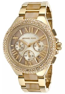 Michael Kors Michael Kors Camille Gold and Horn Chronograph Watch