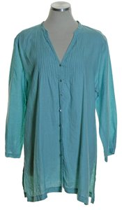 Eileen Fisher Woven Long Seeve Pintuck Tunic