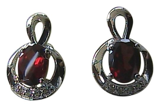 Preload https://item3.tradesy.com/images/garnet-white-topaz-sterling-silver-16-carats-and-stud-earrings-1749127-0-0.jpg?width=440&height=440