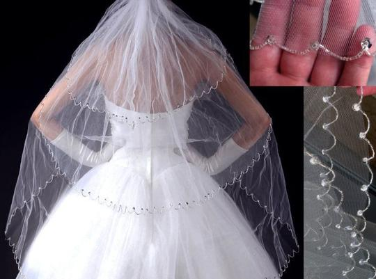 Tiered Veil With Beading