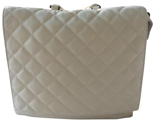 Item - Scarlet White Leather Backpack